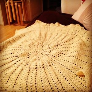 Finished Sunshine baby blanket