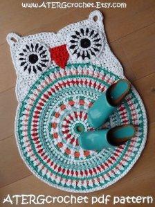 60s owl rug