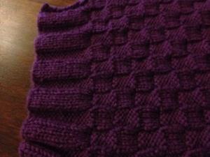 Basket weave scarf close up