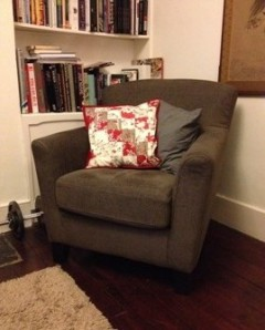 Quilted cushion in situ