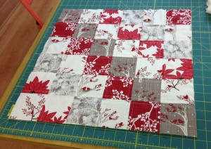 Quilted cushion lay out
