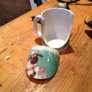 That is the Shaun the Sheep mug. Just looking at this photo breaks my heart like I broke that mug. Sad times.