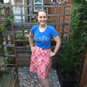 GBSB tartan box pleat skirt