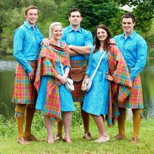 The Scottish Commonwealth Games team model their lovely outfits. Hmmm... From au.sports.yahoo.com