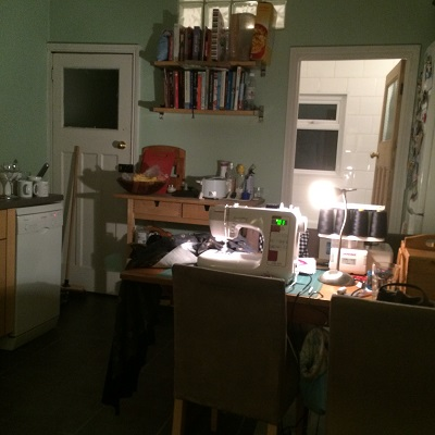 After dark sewing