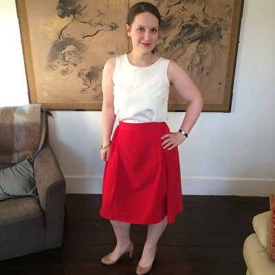50s pleated skirt front 1