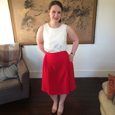 50s pleated skirt front 2
