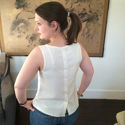 Cream Oasis top back
