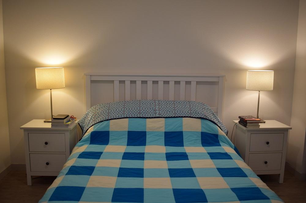 On the bed landscape
